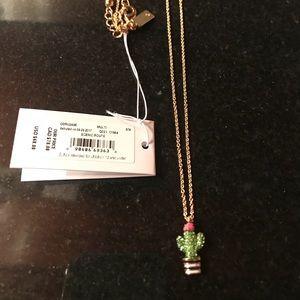 Kate Spade Mini cactus necklace